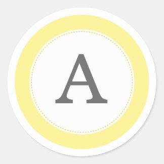 Lemonade Yellow Classic Round Sticker