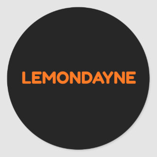 Lemondayne Logo Text Sticker