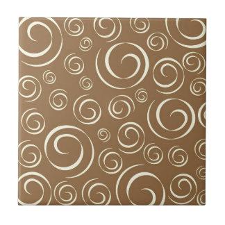 Lemongrass swirl pattern Pt81 Small Square Tile