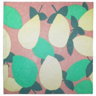 Lemons and Limes Citrus Fresh Pattern Napkin