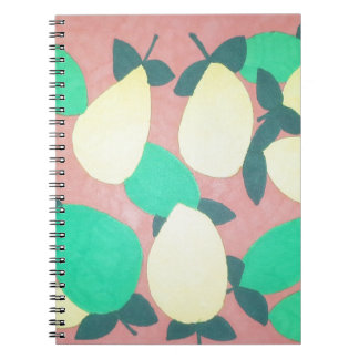 Lemons and Limes Citrus Fresh Pattern Notebooks