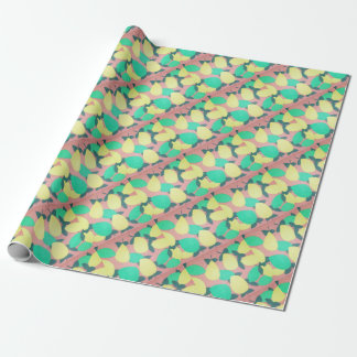 Lemons and Limes Citrus Fresh Pattern Wrapping Paper