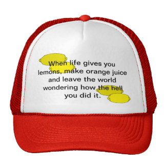 lemons and orange juice hat