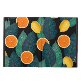 lemons and oranges black cover for iPad air