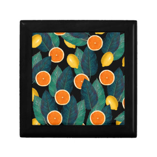 lemons and oranges black gift box