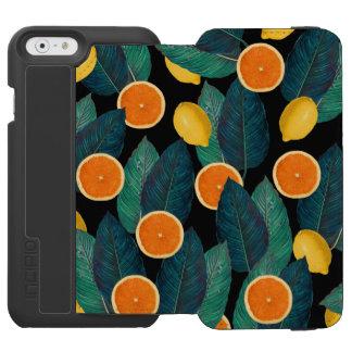 lemons and oranges black incipio watson™ iPhone 6 wallet case