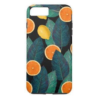 lemons and oranges black iPhone 8 plus/7 plus case