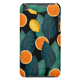 lemons and oranges black iPod touch Case-Mate case