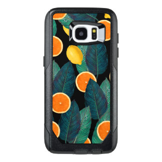 lemons and oranges black OtterBox samsung galaxy s7 edge case