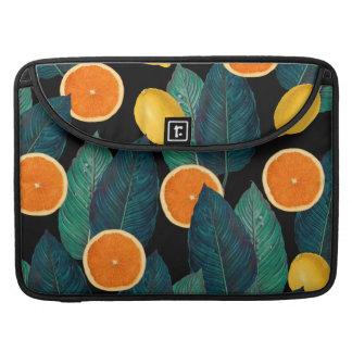lemons and oranges black sleeve for MacBook pro