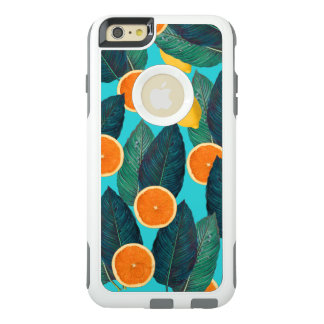 lemons and oranges teal OtterBox iPhone 6/6s plus case