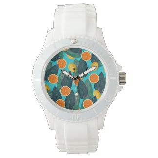 lemons and oranges teal watch