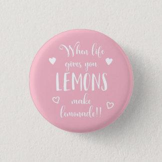 Lemons Attitude Success Dreams Motivational Quote 3 Cm Round Badge