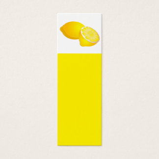 Lemons Bookmark Mini Business Card