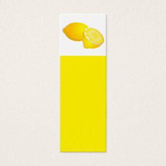 Lemons Bookmark Mini Business Card