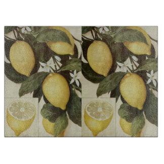 Lemons cutting board