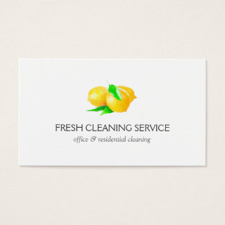 Lemons Design Cleaning Service Business Cards