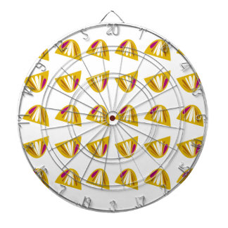 Lemons design gold dartboard