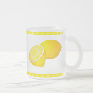Lemons Frosted Glass Mug