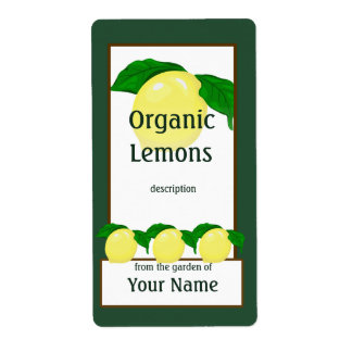 Lemons Gardener Label Shipping Label