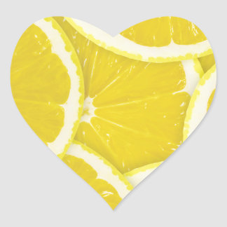 Lemons Heart Sticker