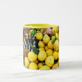 Lemons in Limone at Lake Garda Two-Tone Mug