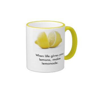 Lemons Lesson ! Ringer Coffee Mug