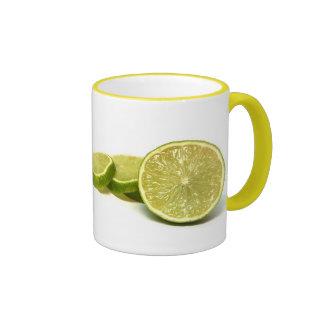 lemons, ringer coffee mug