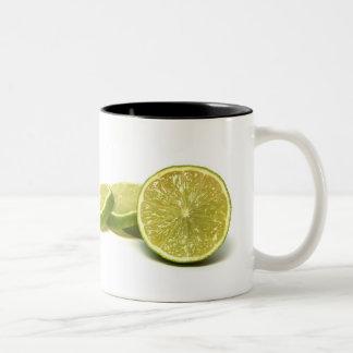 lemons, coffee mug