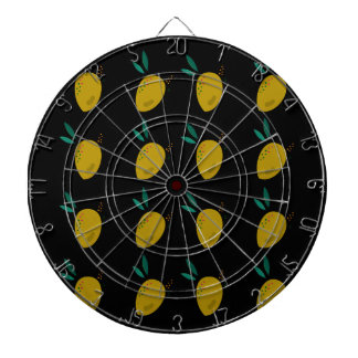 LEMONS ON BLACK DARTBOARD