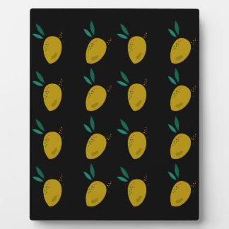 LEMONS ON BLACK PLAQUE