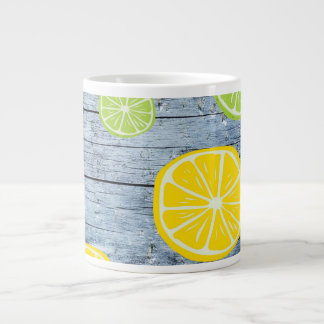 Lemons on Wood Board Mug Jumbo Mug