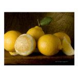 lemons on wood post card