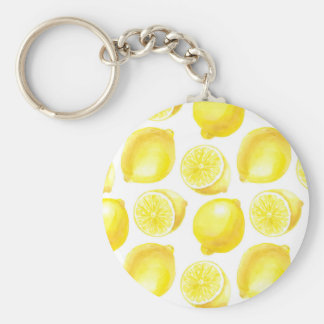 Lemons pattern design key ring