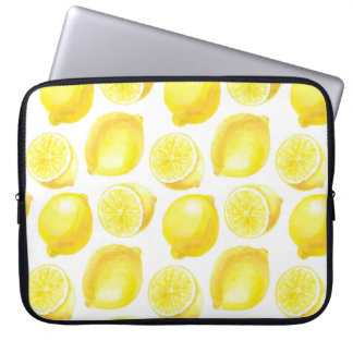 Lemons pattern design laptop sleeve