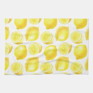 Lemons pattern design towels