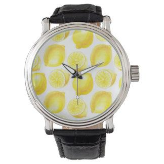 Lemons pattern design watch