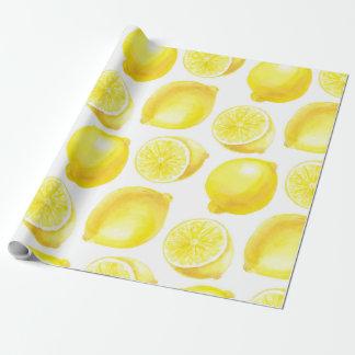 Lemons pattern design wrapping paper