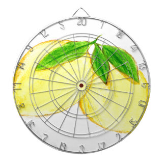 Lemons print Yellow Fruits Dartboard