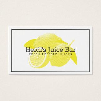 Lemons Screen-Print Illustration Yellow/White Business Card