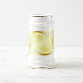 lemons stein 18 oz beer stein