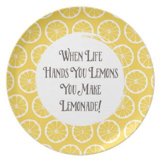 Lemons To Lemonade Decorative Plate