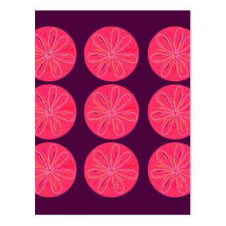 Lemons with wine slices postcard