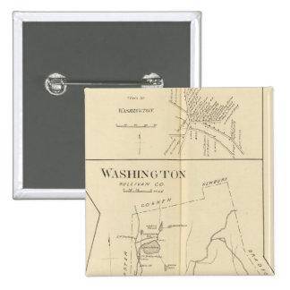 Lempster, Washington, Goshen 15 Cm Square Badge