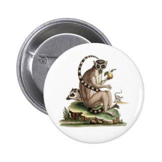 Lemur Artwork 6 Cm Round Badge