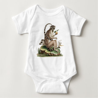 Lemur Artwork Baby Bodysuit