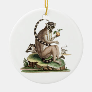 Lemur Artwork Ceramic Ornament