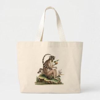 Lemur Artwork Large Tote Bag