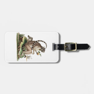 Lemur Artwork Luggage Tag