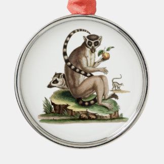 Lemur Artwork Metal Ornament
